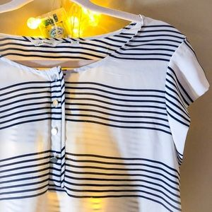 Tops - Black and White blouse W silver buttons, Reitman's